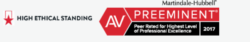 AV-Preeminent Peer Review Rating from Martindale-Hubbell